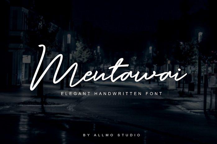 Mentawai Signature Font