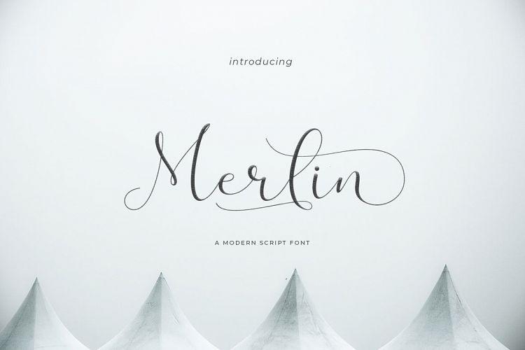 Merlin Script Font-1