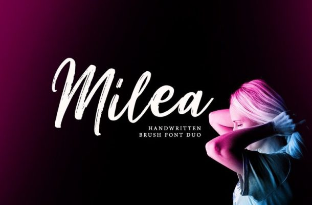 Milea Brush Font Duo