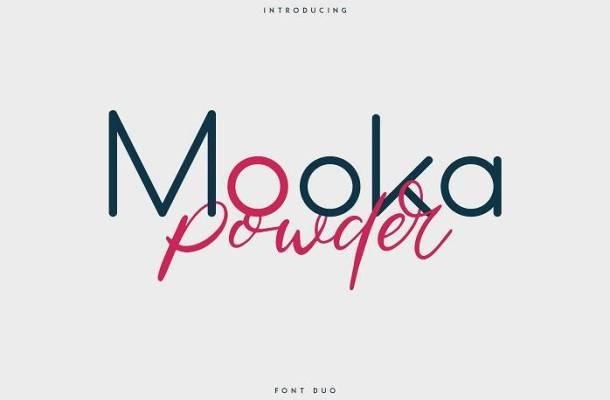 Mooka Powder Font Duo