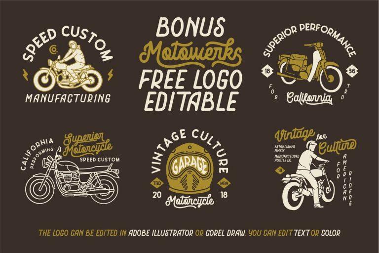 Motowerks Vintage Script Font-2
