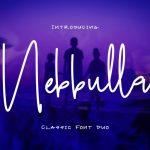 Nebbulla Handwriting Font