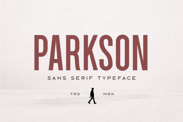Parkson Sans Font - Dafont Free