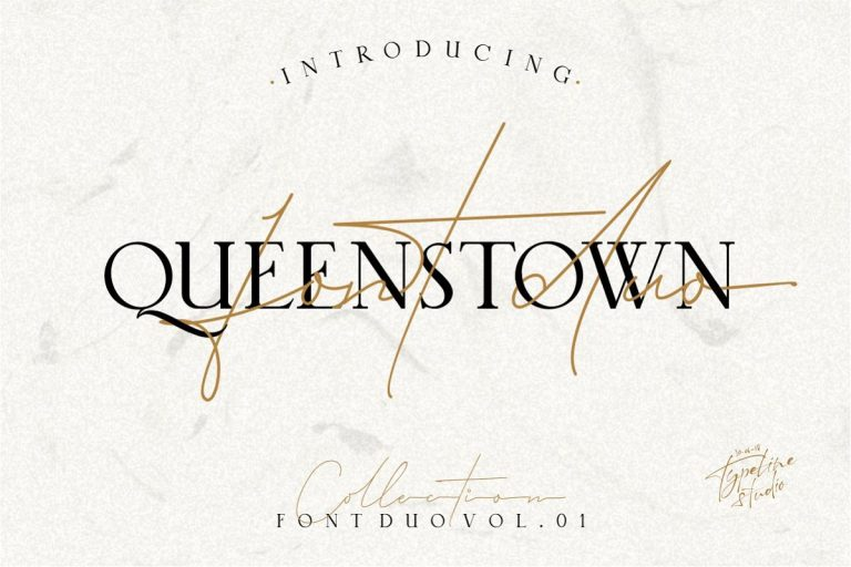 Queenstown Signature Font