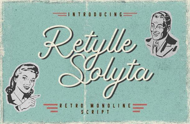 Retylle Solyta Script Font