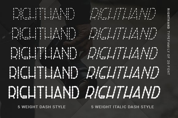 Right Hand Font Family-2