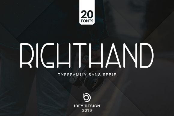 Right Hand Font Family