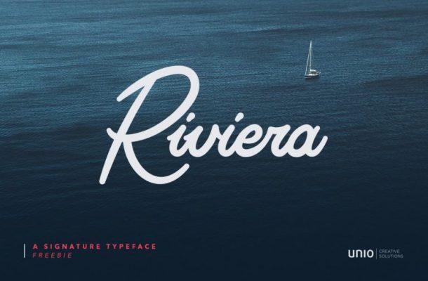 Riviera Signature Font