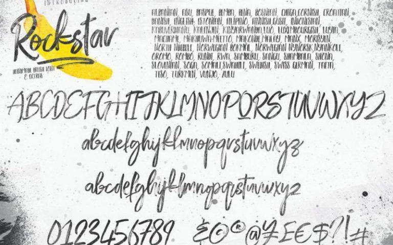Rockstar Handmade Brush Font-2