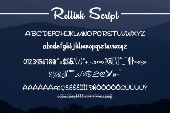 Rollink Script Font-1