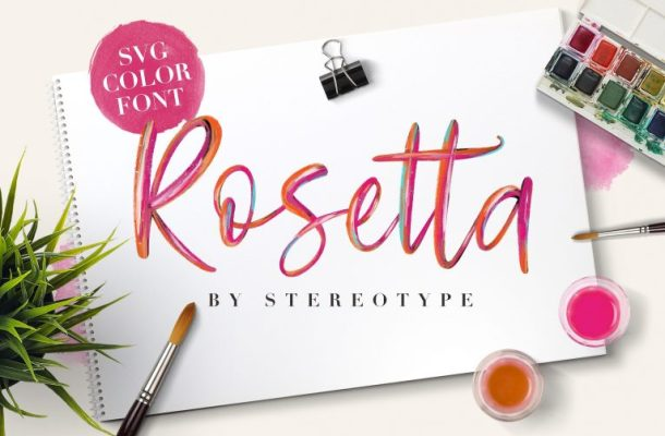 Rosetta SVG Color Font