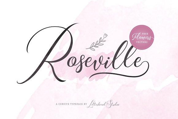 Roseville Script Font