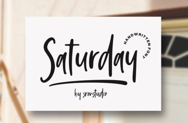 Saturday Vibes Script Font
