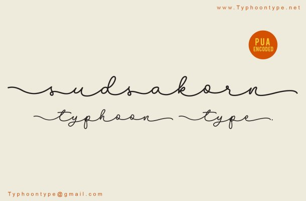 Sudsakorn Signature Font