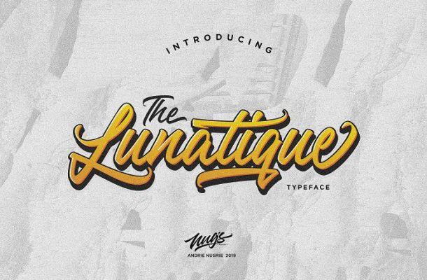 The Lunatique Script Font