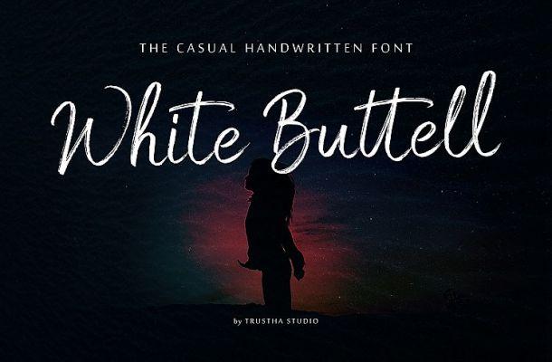 White Buttell Brush Font