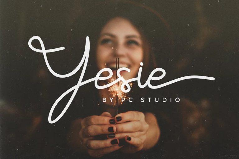 Yesie Script Font