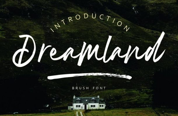 Dreamland Brush Font