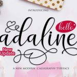 Adaline Script Font