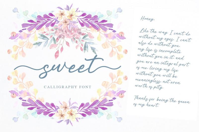 Alisha Sweet Calligraphy Font-2