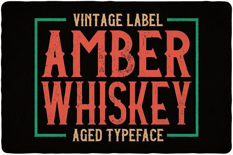 Amber Whiskey Typeface