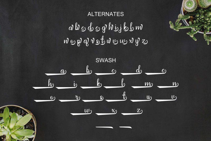 Arthunia Script Font-3