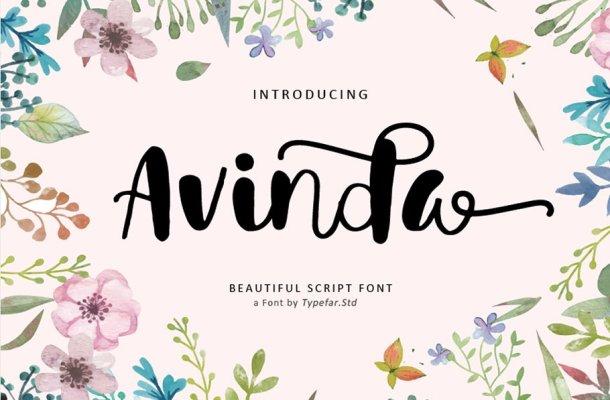 Avinda Script Font