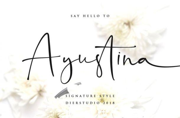 Ayustina Signature Font