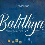 Balithya Calligraphy Font