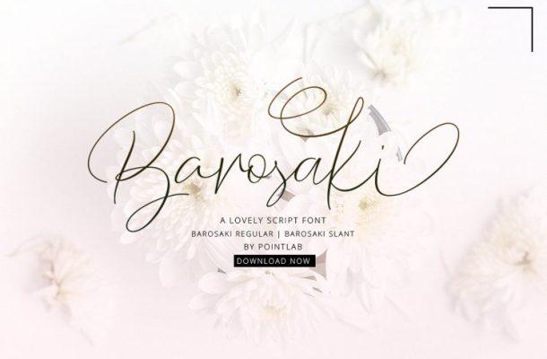 Barosaki Handwriting Font