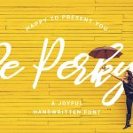 Be Perky! Handwritten Font