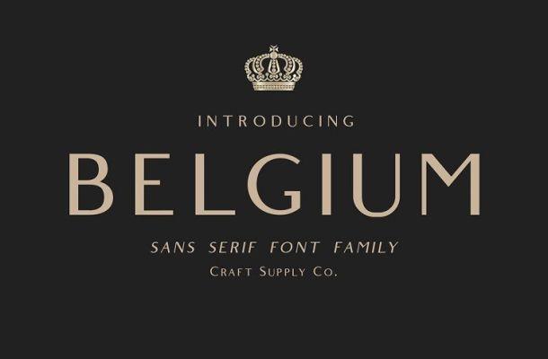 Belgium Font Family