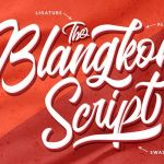 Blangkon Script Font