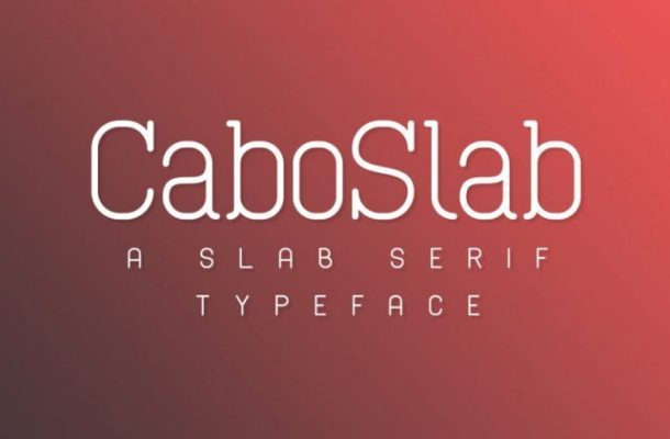 Cabo Rounded and Slab Font Duo