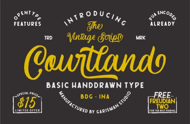 Courtland Handdrawn Font