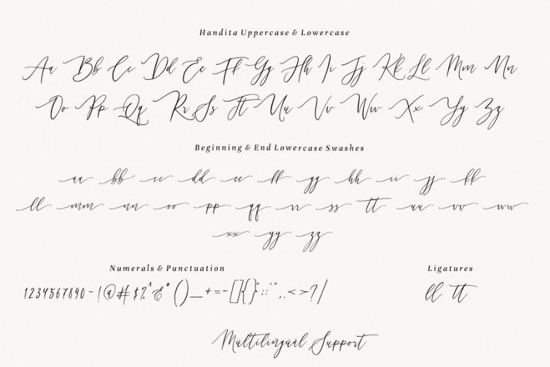 Handita Calligraphy Font-3