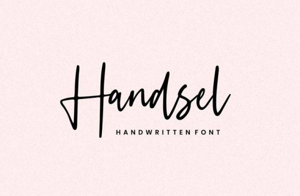 Handsel Script Font