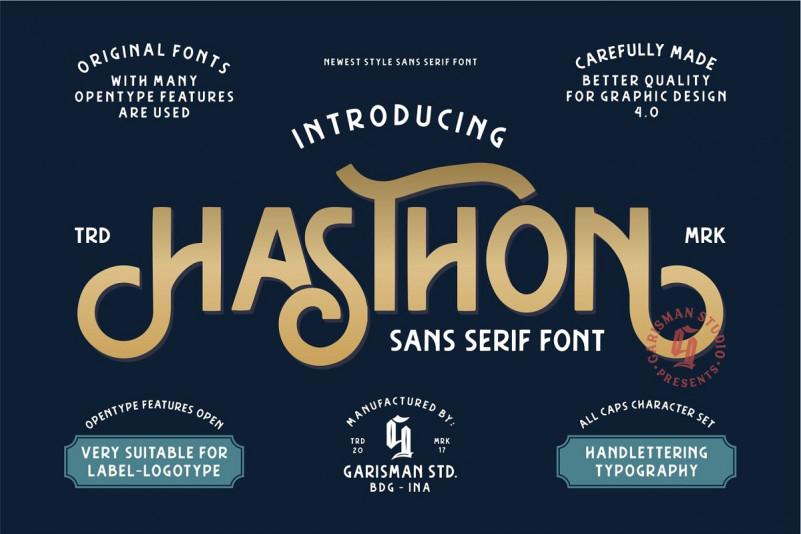 Hasthon Vintage Font