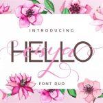 Hello Eisya Font Duo