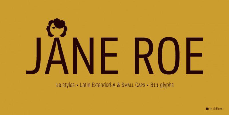 JANE ROE Sans & Condensed Fonts
