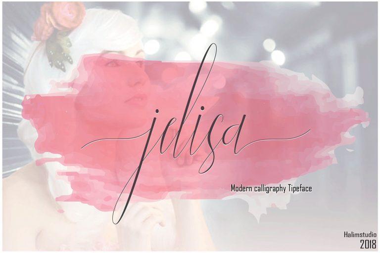 Jelisa Script Font