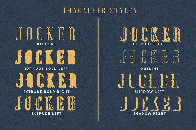 Jocker Vintage Font Family-3