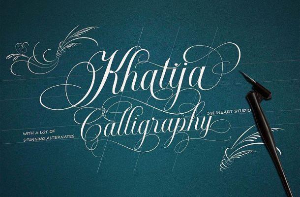 Khatija Calligraphy Font