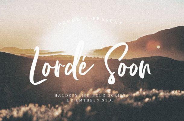 Lorde Soon Script Font
