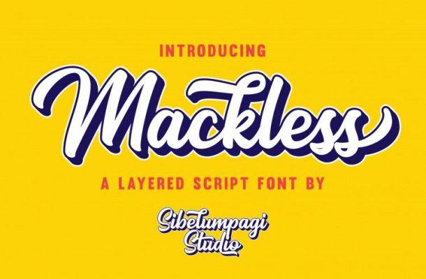 Mackless Script Font