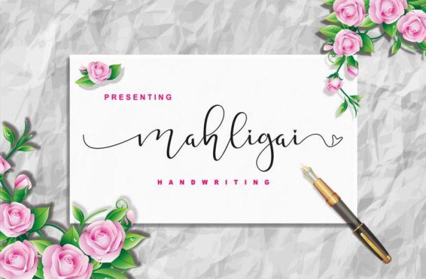 Mahligai Calligraphy Font