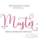 Master Script Font