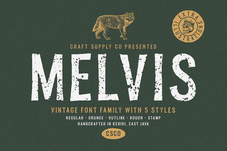Melvis Vintage Font Family