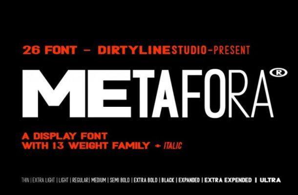 Metafora Sans Font Family