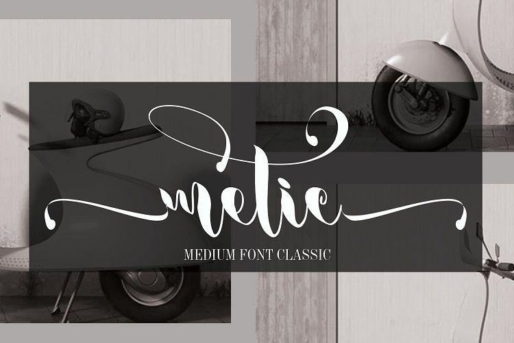Metic Calligraphy Font